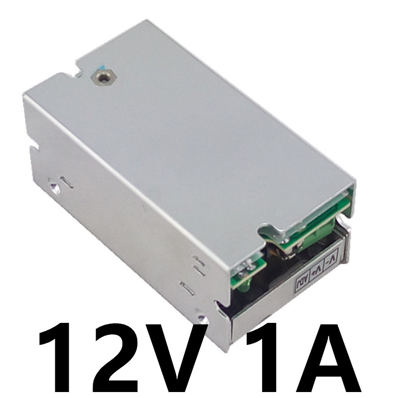 Best quality 12V 1A 12W Switching Power Supply Driver for LED Strip AC 100-240V Input to DC 12V free shipping best quality 5v 12a 60w switching power supply driver for led strip ac 100 240v input to dc 5v free shipping