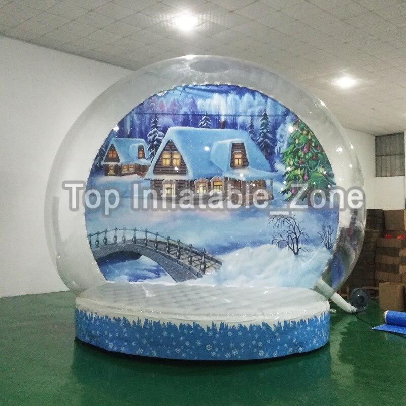 Livraison gratuite belle boule à neige gonflable prix usine gonflable Globe à neige cabine Photo à vendre boule à neige de haute qualité