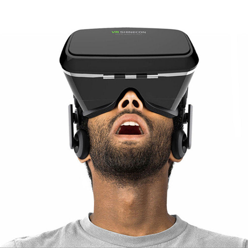 NEWEST Google font b VR b font SHINECON Virtual Reality 3D Glasses Bluetooth Control Movies Headset