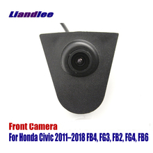 Liandlee AUTO CAM Car Front View Camera Small Logo Embedded For Honda Civic 2011-2018 FB4 FG3 (Not Reverse Rear Parking )