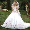 Novo Design A Linha Sexy Sem Mangas Vestidos Quinceanera Custom Made Tulle Com Flores Vestidos Quinceanera 2017 New Arrival