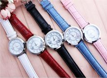 Inventive Girls Trend Watch Butterfly Type Leather-based Band Analog Quartz Wrist Watch Informal Watch