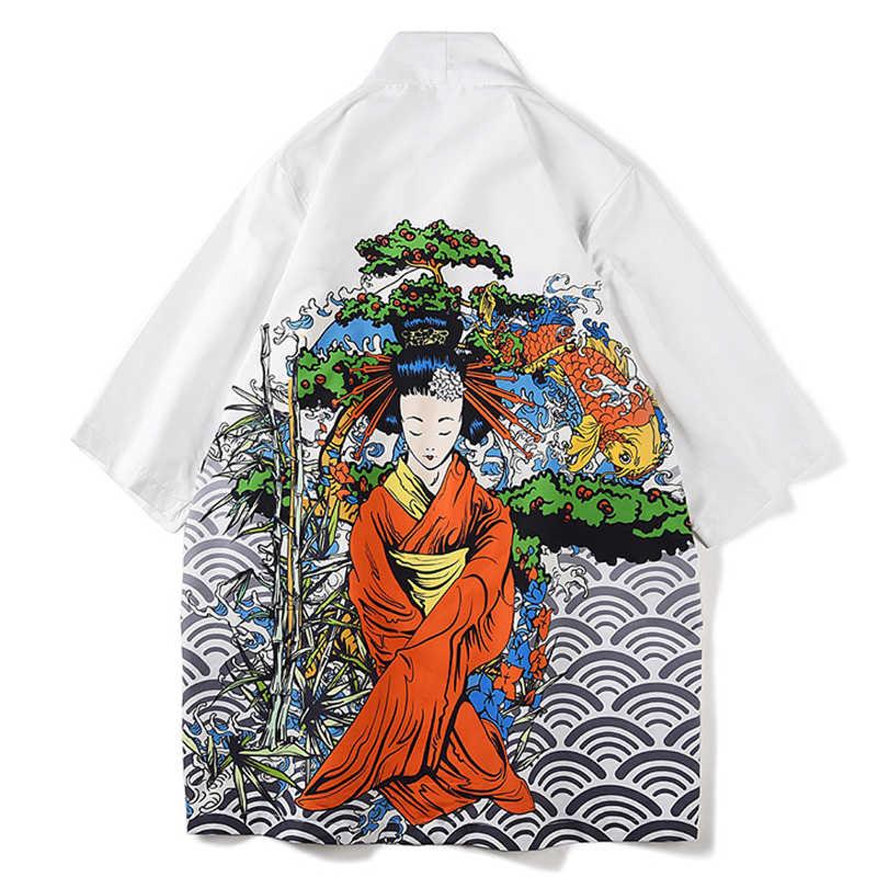 Мужские традиционные японские кимоно юката Мужская рубашка японское кимоно Мужская Летняя мода Япония Одежда