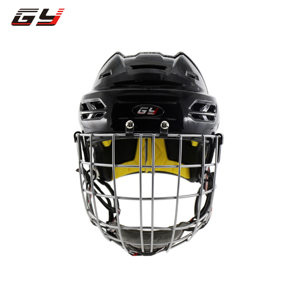 цена на 2018 Global unique ice hockey mask helmet CE standard hockey equipment face shield guard