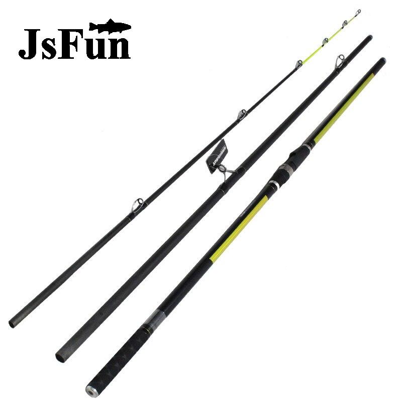 Japon Qualité Distance de Projection Rod Surf Tige 4.2 M 46 T haute teneur en carbone 3 Sections 100-200G Surf casting tiges FG173