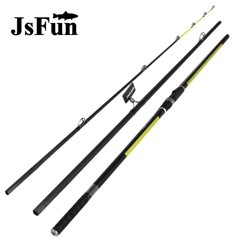 Japon qualité Distance lancer tige Surf Rod 4.2 M 46 T haute teneur en carbone 3 Sections 100-200G Surf coulée tiges FG173