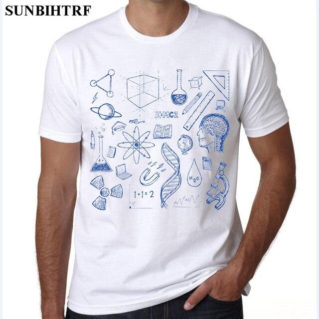 4cf913656 SUNBIHTRF 2018 Fórmula Matemática Árvore Impresso Camiseta Física Camisetas  Homens Criativos T-Shirt Dos Homens