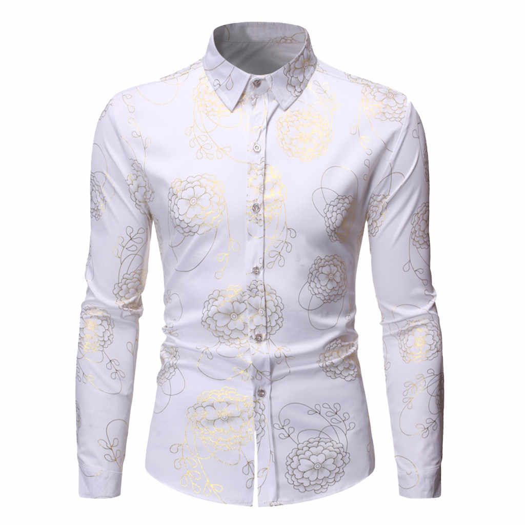 Slaper # J5 Mode Heren Herfst Shirts Casual Lange Mouwen Beach Tops Loose Casual Blouse рубашка мужская wit hot Gratis verzending