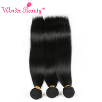 Wonder Beauty Peruvian Straight 100 Human Hair Weaves 3 Bundles Deal Natural Black Hair Extensions 8