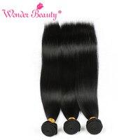 Wonder Beauty Peruvian Straight 100% Human Hair nonremy Weave 3 Bundles Deal Natural Black Hair Extensions 8 30 Inches free ship