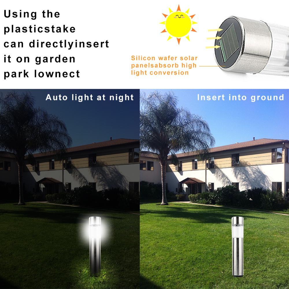 Kaigelin 2W LED Solar Garden Lighting Stainless Steel Stud Lawn Lamp IP65 Waterproof Solar Garden Lights LED Outdoor Lamp in Solar Lamps from Lights Lighting