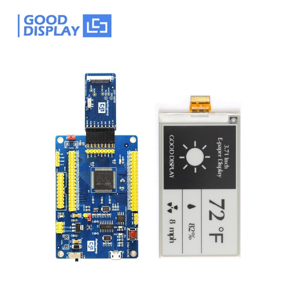 3 71 inch Tri color e paper display GDEW0371W7 with Connector Board buy eink display