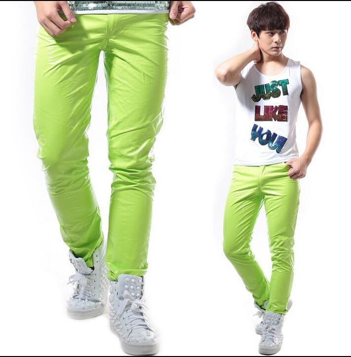 27-44!!! 2018, pour les vêtements de mode pour hommes candy neon série de pantalons décontractés costumes costume les vêtements du chanteur - 6