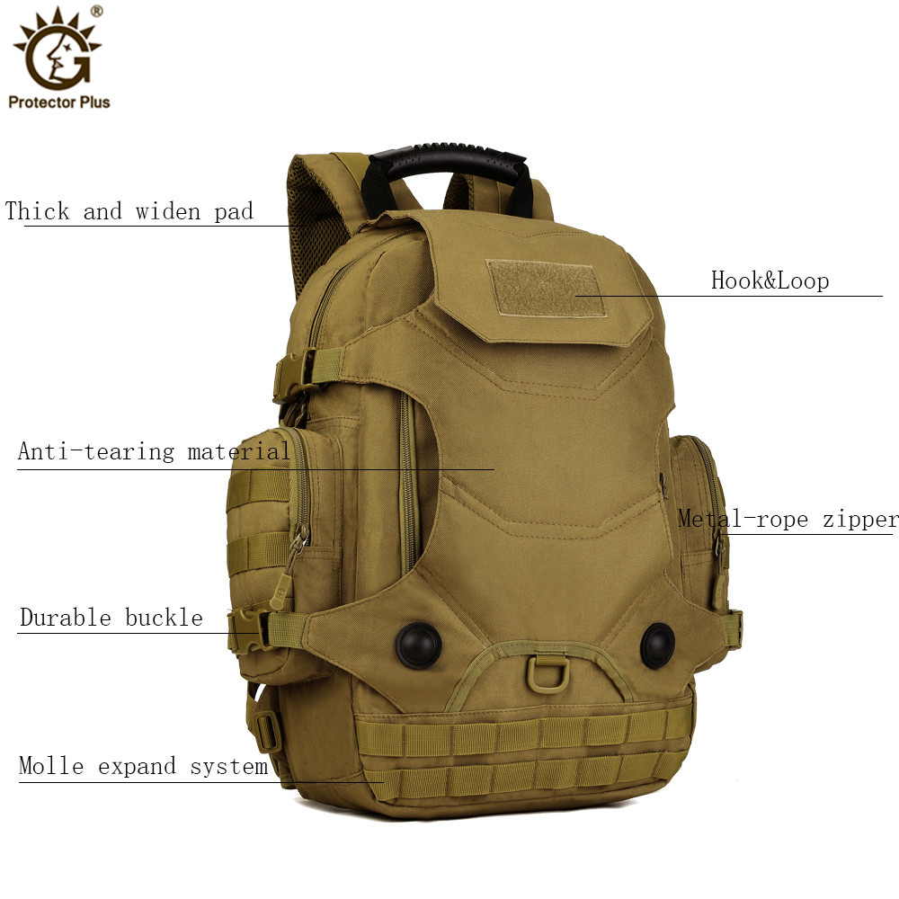 40L Military Tactical Backpack Camouflage Mochila Men Women Outdoor Hiking Sport Bags Molle Army Rucksack Travel Backpack in Climbing Bags from Sports Entertainment