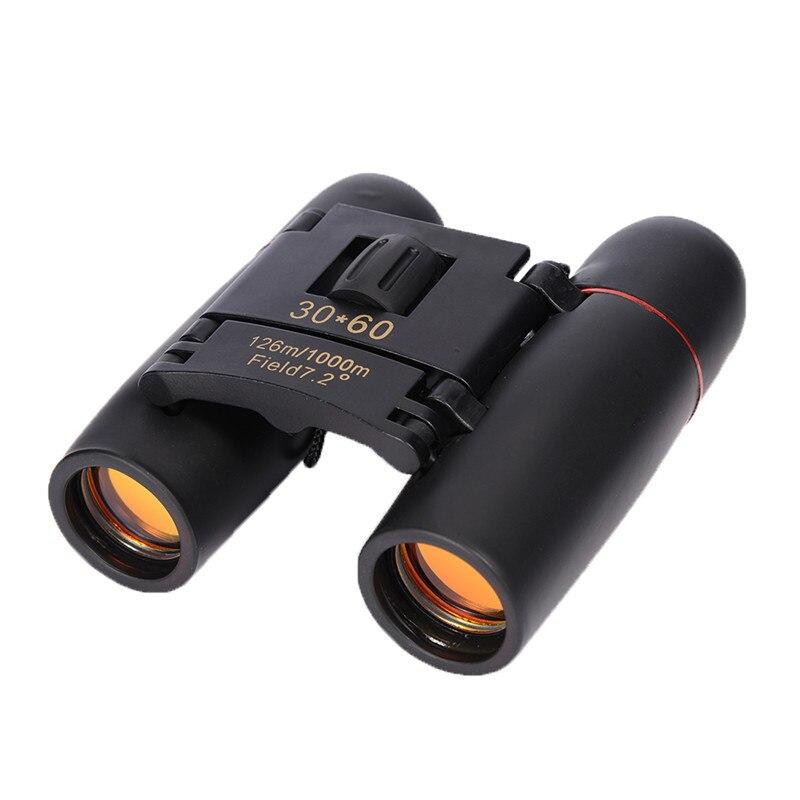 30x60 ópticas de visión nocturna binoculares telescopio caza Camping al aire libre pesca senderismo concierto reloj