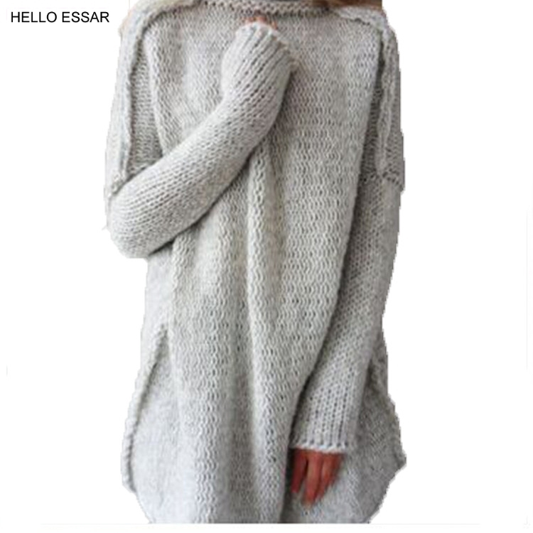 New Women Charm Pom Pom Sweater Coat Female Fashion loose Knitted party long style Outerwear Sweaters Ladies clothing S1029