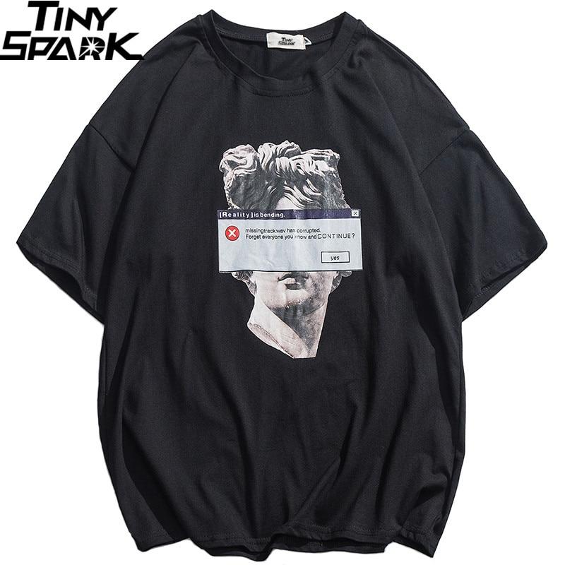 2019 Hip Hop Funny T Shirt Michelangelo Statue David Streetwear T-Shirt Men Summer Cotton Harajuku Tshirt Short Sleeve Tops Tees