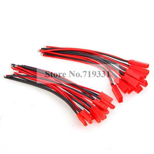 10 Pairs 100mm <font><b>JST</b></font> Connector Plug Cable Line Male+Female for RC BEC Lipo <font><b>Battery</b></font>