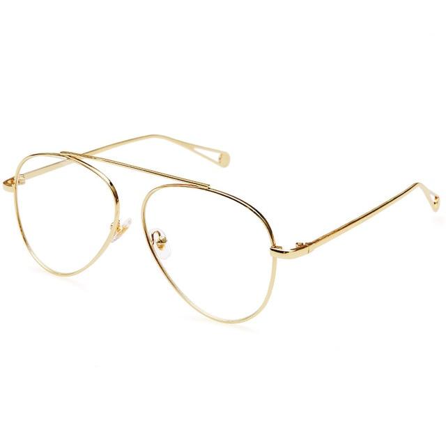 Rimless Gold Eye Glasses Frame Women Vintage Pilot Eyeglasses Frames For  Eyewear Prescription Slim Metal Optical Clear Lens 8276 e8f3d9a36a8