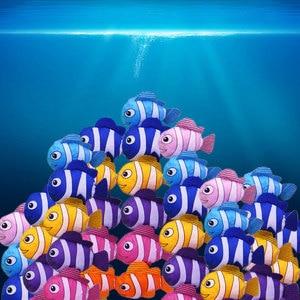 Image 5 - Mới 7 Màu Cá Nhiệt Đới Có Thể Gập Lại Sinh Thái Có Thể Tái Sử Dụng Nylon Túi Đựng Đồ Cỡ Lớn 38 Cm X 58 Cm