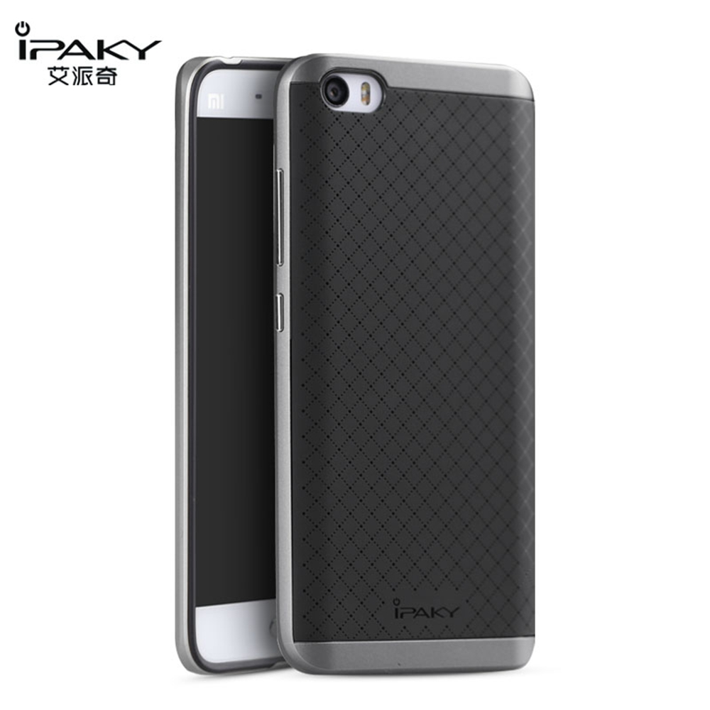 For Xiaomi Mi5 Mi4 Case Original Ipaky Silicon Case Cover with PC Frame Dual Hybrid Phone