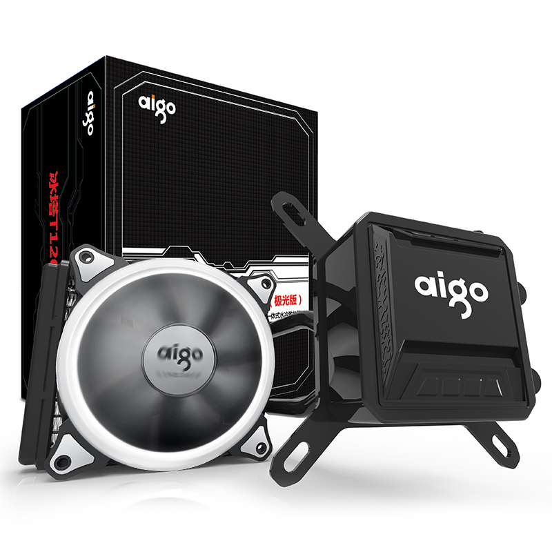 Aigo Liquid CPU Cooler All-In-One Water Cooling 120mm PWM Fan LED Light desktop computer case radiator LGA 775/115x/AM2/AM3/AM4 сергей дубянский аз воздам