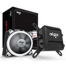 Aigo жидкости Процессор охладитель все-в-одном водяного охлаждения 120 мм ШИМ вентилятор светодио дный свет настольного компьютера дела радиатор LGA 775/115x/AM2/AM3/AM4