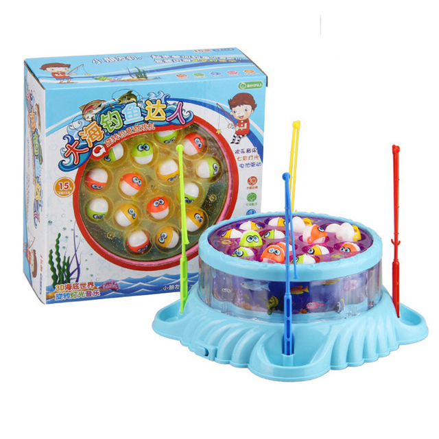 2017 Rushed Limited Children Electric Fishing Rotating Ocean Fish Toys Baby Biting Casual Puzzle Parent-child Interactive Games