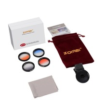 ZOMEI Universal 37mm Clip-On Graduated Gray Filter Camera lens for Cell Phone 6/6s Samsung