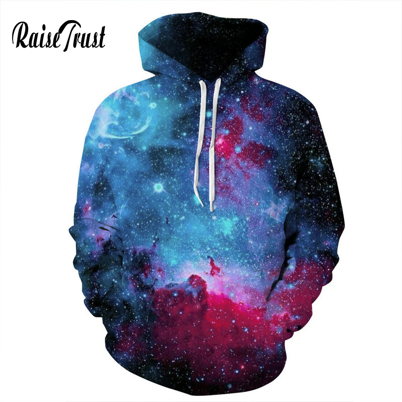 fb164bc12 Raise Trust New Style Sweatshirts Men/Women 3d Blue transparent aurora  Print Deer Hooded Casual Couple Pullover Hoodies hooded-in Hoodies &  Sweatshirts from ...