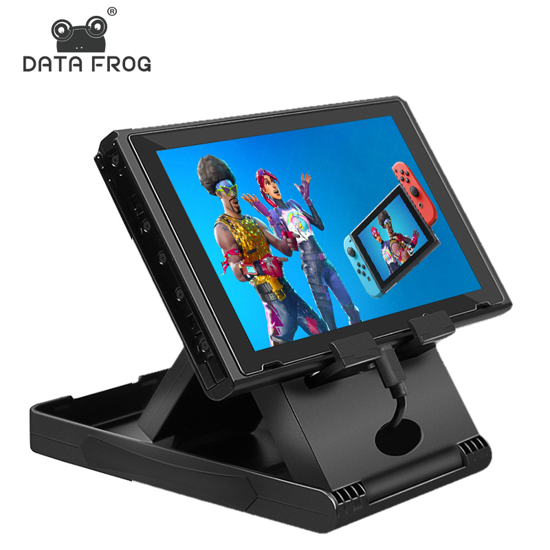Data Frog Portable Desktop Stand Holder For Nintend Switch Mobile Phone Tablet Adjustable Fold Base Bracket for Nintendo Switch-in Stands from Consumer Electronics