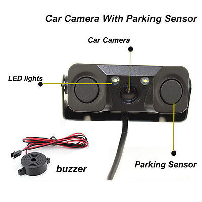 3 en 1 cámara de vista trasera del coche + 2 sensores - Electrónica del Automóvil - foto 3