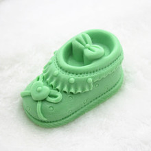 3d shoe shape soap making mold Handmade Heart Pattern Soap Silicone Mould