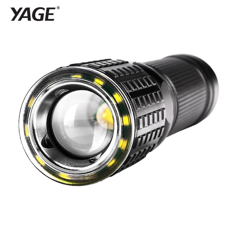 YAGE lampe de Poche Rechargeable Cree XML-T6 Lanterna Tactique lampes de poche USB LED lampe de Poche 18650 Lampe Touche Linternas Led Lampe