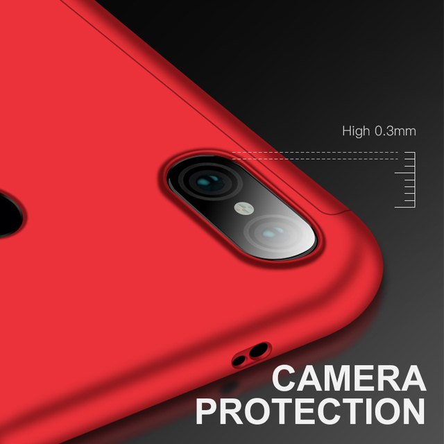 360 Full Cover Protective Phone Case For Xiaomi redmi Phones