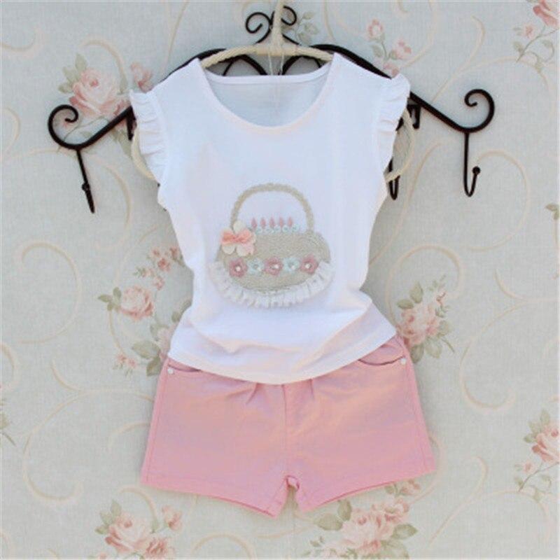 2016 Summer Girls T Shirt Children Clothing Baby Girl