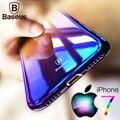 Baseus case para iphone 7 plus luxo aurora cor gradiente transparente case para iphone 6 6 s plus hard shell pc tampa da luz case