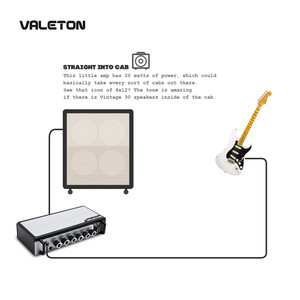 Image 5 - Valeton Guitar Amp with Reverb Distortion Overdrive Asphalt TAR 20G Pedal Platform Amplifier Head with CAB SIM