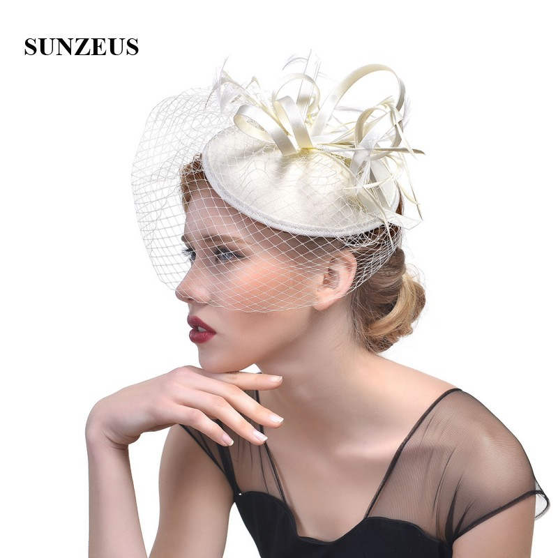 Bridal Hats with Face Veil Europe Ladies Party Hats Hair Accessories Wedding Hats for Brides gioielli capelli sposa SH37