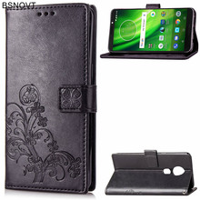 For Motorola Moto G6 Play Case PU Leather & Silicone Wallet Phone Bag Cover