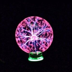Image 3 - 3/4/5/6/8 Inch Alle Op Voorraad Crystal Plasma Bal Nachtlampje Magische Glazen Bol Nieuwigheid bliksem Bal Licht Plasma Tafellamp