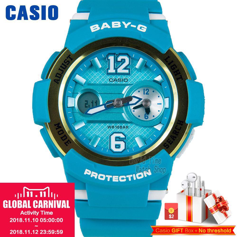 где купить Casio watch BABY-G Women's quartz sports watch waterproof fashion multi-function baby g Watch BGA-210 по лучшей цене