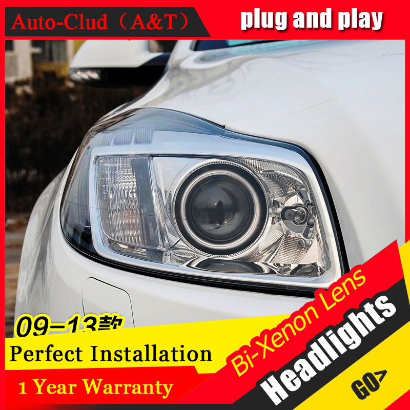 Car Styling For Buick Regal led headlight assembly For Regal head lamp Angel eye front light Bi-Xenon Lens xenon HID KIT
