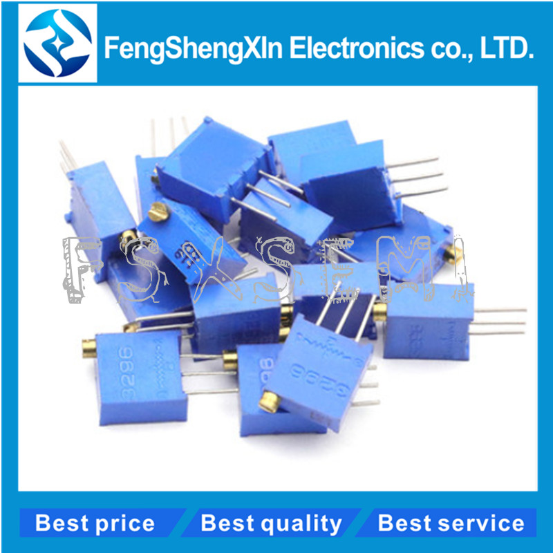 10pcs/lot 3296W Trimpot Trimmer Potentiometer 50 100 200 500 Ohm 1K 2K 5K 10K 20K 50K 100K 200K 500K 1M Ohm 103 100R 200R 500R(China)