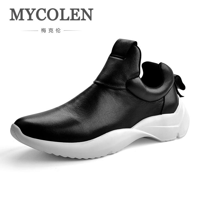 MYCOLEN New Shoes Men's Spring/Autumn Genuine Leather Waterproof Non-Slip Shoes Men Outdoor Walking Casual Shoes Calzado все цены