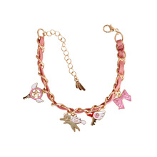 Exquisite Jewelry Girlish Cherry Blossom Anime Gold Beautiful Pendant Cute Bracelet For Girls