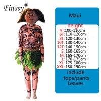 Movie TV Costumes Moana Fairy Maui Cosplay Performance Clothing Halloween Carnival Dress Up Costume