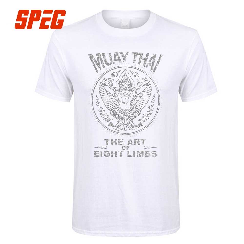 957f1d63 ... Slim Fit T Shirt Garuda Muay Thai MMA Male Round Collar Tee Shirt Plus  Size Adult ...