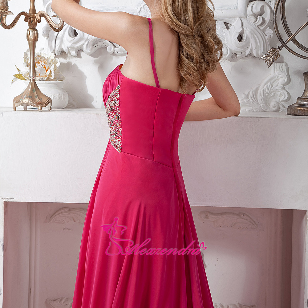 2ae8f60a7e US $118.9 18% OFF|Alexzendra Sweetheart Beaded Hot Pink Chiffon A Line  Formal Evening Dress Customize Long Prom Dresses Plus Size-in Evening  Dresses ...