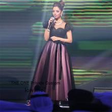 Arabisch Celebrity Kleider 2017 Günstige Schwarzen Tüll Leistung Kleider Abiye Libanon Abendkleid Bodenlangen Party Kleider